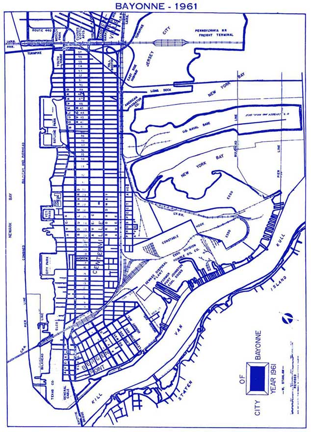 Bayonne New Jersey Maps
